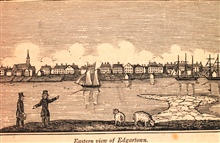 Edgartown Harbor as seen from Chappequiddick Island.In: Historical Collections ... of Every Town in Massachusetts.  1841.