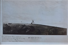 Santa Barbara Lighthouse.Drawing by Major Hartman Bache, inspectof of the 12th Lighthouse District.Hartman Bache was the uncle of Alexander D. Bache, 2nd supt. of the Coast Survey