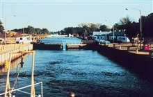 Locks south of Norfolk on Intracoastal Waterway
