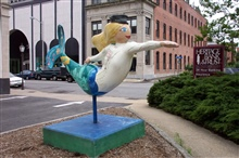 Miss 'Definitely' Downtown.  A Norfolk mermaid.