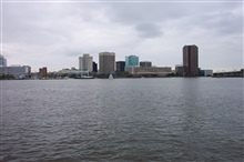Norfolk skyline as seen from Portsmouth.