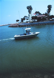 A harbor patrol boat at Dana Point