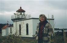 Elinor Dewire at Point No Point Lighthouse.
