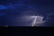 Lightning over the high plains