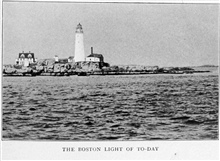 The Boston Light of Today (1917).  In:Lighthouses and Lightships of the United States by George R. Putnam, p. 6, 1917.  Houghton Mifflin and Company, Boston. Library Call No. 527.7 P98.