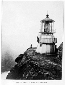 Point Reyes Light, California.  In:Lighthouses and Lightships of the United States by George R. Putnam, p. 140, 1917.  Houghton Mifflin and Company, Boston. Library Call No. 527.7 P98.