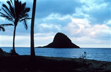 Mokolii Island, known locally as Chinaman's Hat, just north of Kaneohe Bay