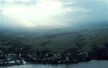 Hilo from the air while flying to Kauai