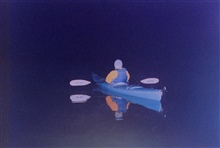 A night-time kayaker on the Patuxent River.