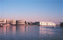 The Kennedy Center (to right) and the Watergate Complex