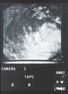 The beginnings of Hurricane Betsy as photographed from TIROS X.  Latitude 13 N,Longitude 52 W.