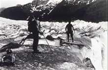 Crossing Twin Glacier.Triangulation party of William M. Scaife.