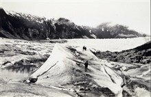 End of trip across Twin Glacier.Triangulation party of William M. Scaife.
