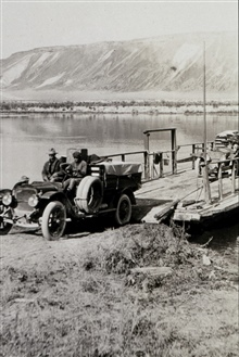 Ferry, Snake River - White 3/4 ton truck.Astro Party of C. V. Hodges