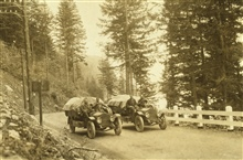 On the Columbia Highway, Oregon - White 3/4 ton truck.Astro Party of C. V. Hodges