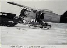 Unloading a Norseman bush plane.Arctic Field Party of Robert A. Earle