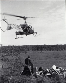 Helicopter operations in Southwest Alaska.Triangulation party of Norman Sylar
