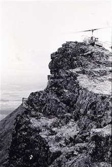 Helicopter operations on Tikchik Mountain.Triangulation party of Norman Sylar