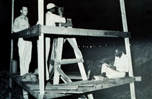 Instructing Liberians in geodetic operations.Combined operations party of George Morris