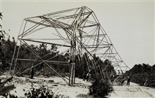 Tower blown down during September 1933 hurricane.Triangulation party of Roland D. Horne