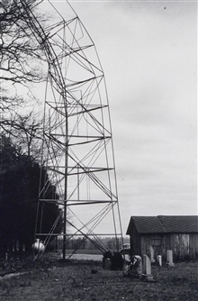 Bilby tower failure at Station Flatlick due to tornado.Triangulation party of E. L. Jones