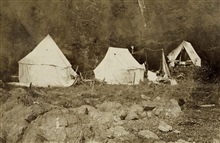 Another view of the camp at Minnie Bay.