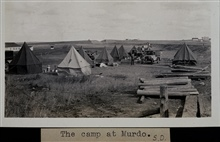 The camp at Murdo.Triangulation party of Wilbur Porter
