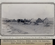 Camp near Sanderson.Triangulation party of Wilbur Porter