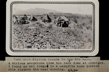 Camp at Station Grande in the Big Bend area.Triangulation party of Wilbur Porter