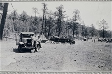 Camp at Bear Springs.Triangulation party of Wilbur Porter