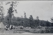 Another view of the camp at Bear Springs.Triangulation party of Wilbur Porter.