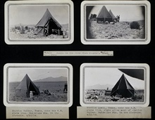 Four campgrounds in New Mexico.Camps at stations Corral, Thorn, Guitar, and Quail.Triangulation party of Wilbur Porter