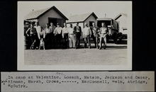Camp at Valentine.Triangulation party of Wilbur Porter