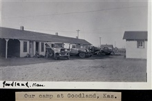 Camp at Goodland.Triangulation party of Wilbur Porter.Perhaps a reconnaissance group - Porter didn't work in Kansas in 1934