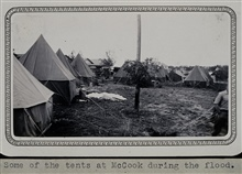 The camp at McCook during the floods along the Republican River.Geodetic crew helped in relief efforts.Triangulation party of Wilbur Porter