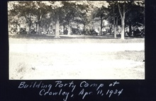 The building party camp at Crowley.Triangulation party of Carl I. Aslakson