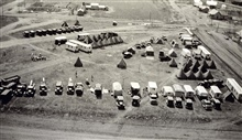 Still a lot of tents but more and more trailers.The camp at BenjaminTriangulation party of Carl I. Aslakson