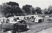 An all trailer camp - date and time unidentified.The days of the tent camps in the Lower 48 were over.