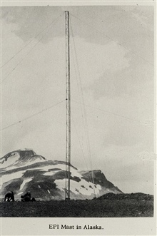 EPI antenna mast used in Bering Sea operations.