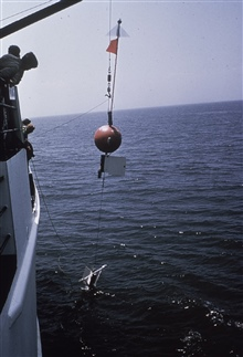Testing moored instrument package for GATE Project.Operations on NOAA Ship WHITING