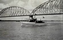 The Launch PRATT - an RAR hydrophone boat.Worked as station boat while HYDROGRAPHER conducted sounding operations