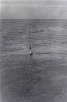 Sono-radio-buoy deployed in the Aleutians for RAR work.Buoy deployed from the PIONEER