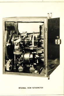 Internal View of Fathometer.From the manual - The Submarine Fathometer