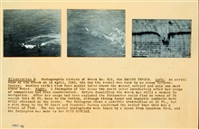 Ship on Nantucket Shoals that was subsequently blown up.Fathometer record of remains of ship