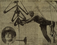 Albert J. Hoskie Hoskinson helping deploy bi-filar current meter.Current party of Ralph W. Woodworth, lower left.Current studies in Boston Harbor.Newspaper clipping from Boston Post, June 20, 1926