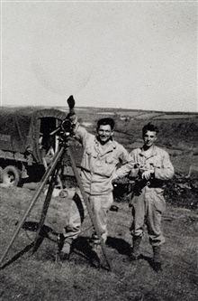 Meteorological observations on the Dartmoors.17th FAOB training exercises prior to D-Day.Photo from 17th FAOB Album