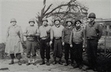 Members of 17th FAOB at Ehrenbreitstein Fortress.L to R - Deily, Bacon, Richey, Harding, Riback, Snyder, Stewart.Photo from 17th FAOB Album