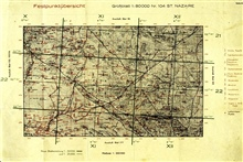 Captured German map showing geodetic control around St. Nazaire, France.