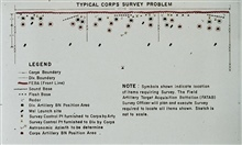 Typical Corps Survey Problem.Illustrating the complexity of battlefield surveying