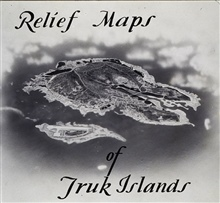 Relief map of Truk Island developed to guide bombing missions.Work of Roswell Bolstad while Marine intelligence officer